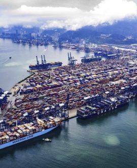 La conjoncture au port de Yantian
